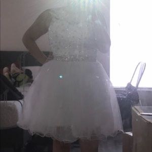 White homecoming formal dress